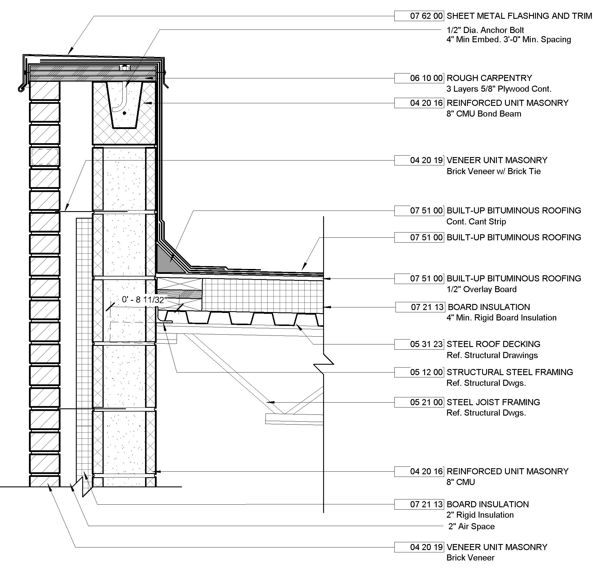 Detail Warehouse Revit Roof Detail Flat Roof Design Architecture Details