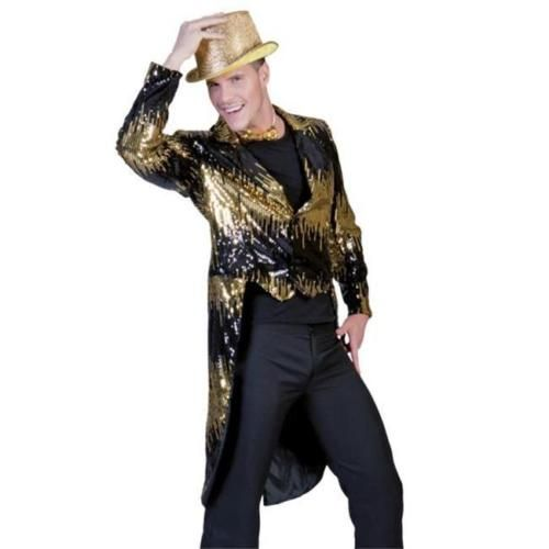 Costumes-For-All-Occasions-FF782851-Glitter-Tailcoat-Gold-Small