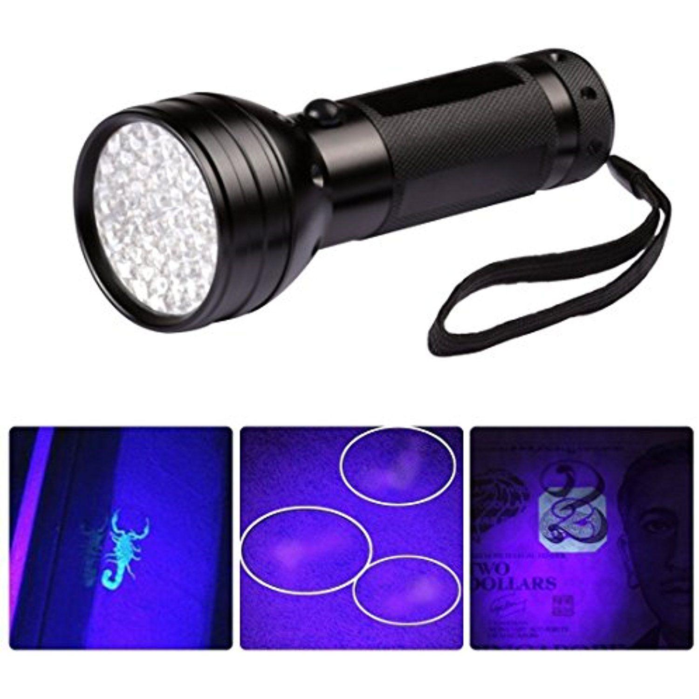 Uv Ultra Violet 51 Led 395 Nm Flashlight Blacklight Light Inspection
