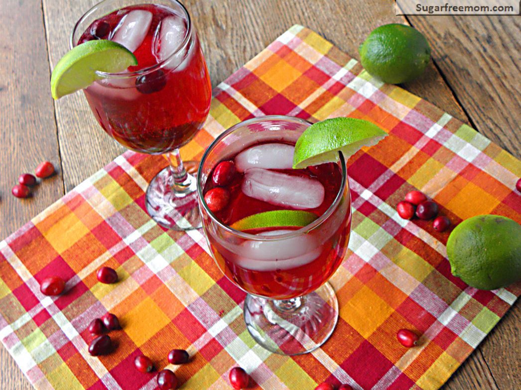 Cranberry Lime Spritzer Non Alcoholic No Sugar Added Recipe Sugar Free Drinks Cranberry Juice Benefits Tasty Ingredients