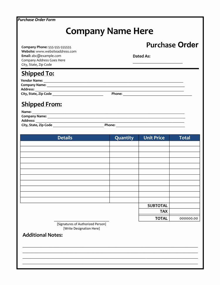 Sample Order Form Template Luxury 40 Free Purchase Order Templates Forms Order Form Template Purchase Order Form Form Example