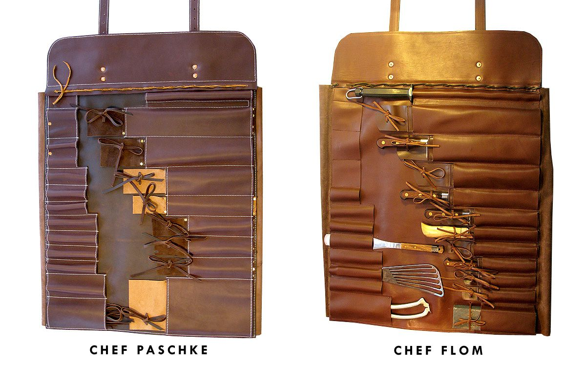 Chefs 39 Knife Roll Large Custom Bags Bespoke Handbags Leather Tool Roll Knife Bag Sewing Leather