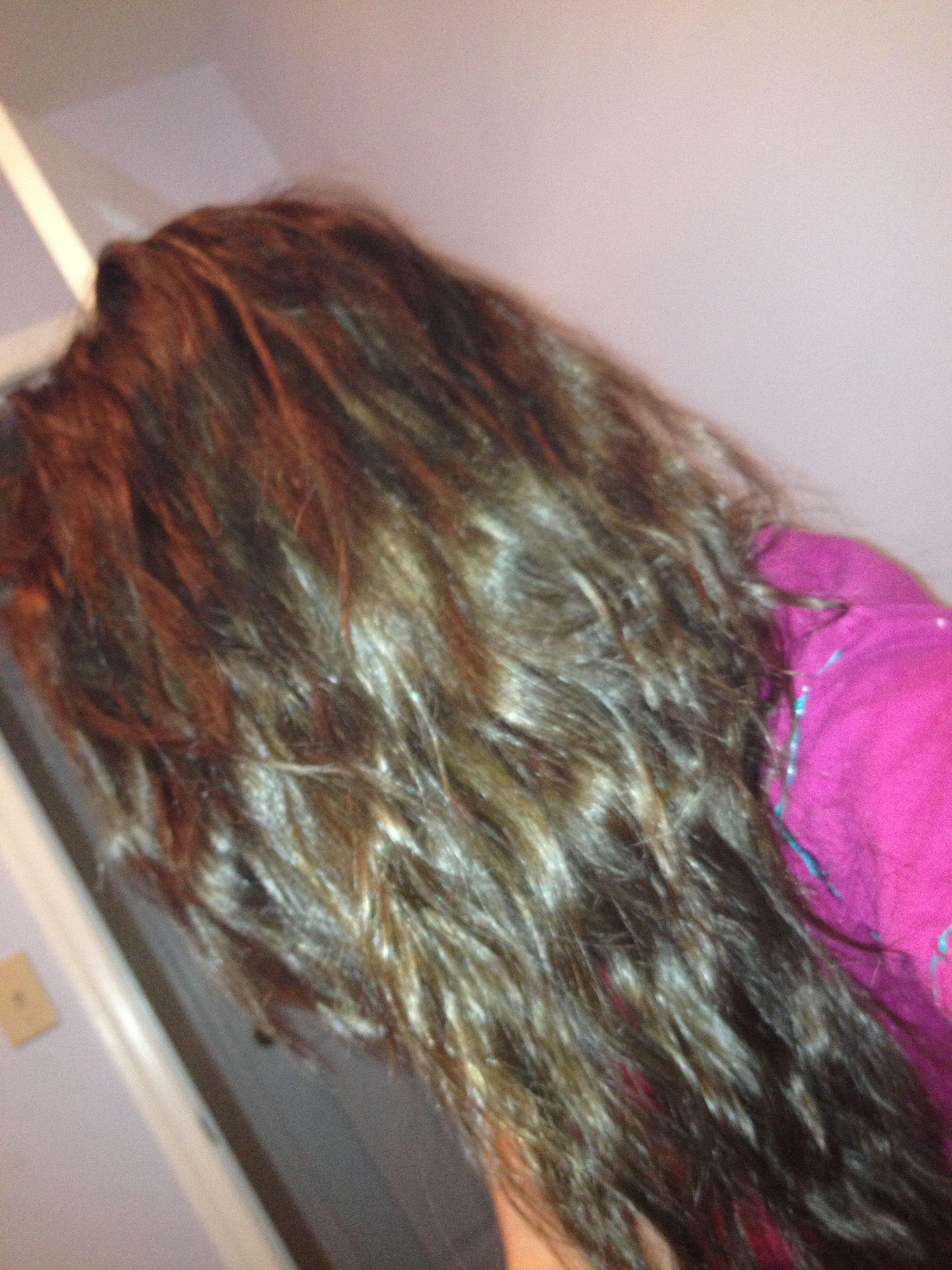 After my shower i did french braids back u slept on it woke up