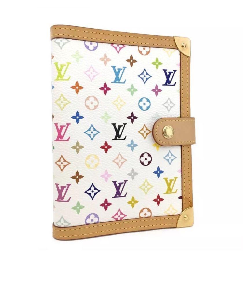 Louis Vuitton Monogram White Agenda Pm Diary Organizer Wallet Fully Loaded Louisvuitton Wallet Organization Louis Vuitton Monogram Canvas