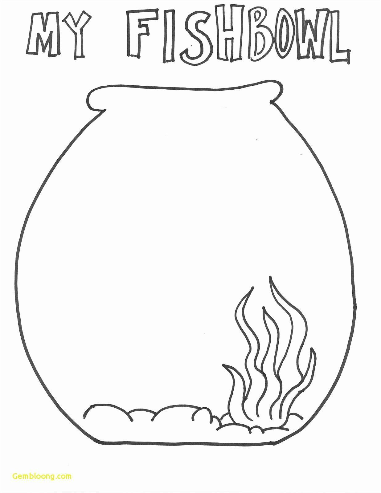 Fish Bowl Coloring Page Youngandtae Com In 2020 Fish Coloring Page Fish Bowl Rainbow Fish