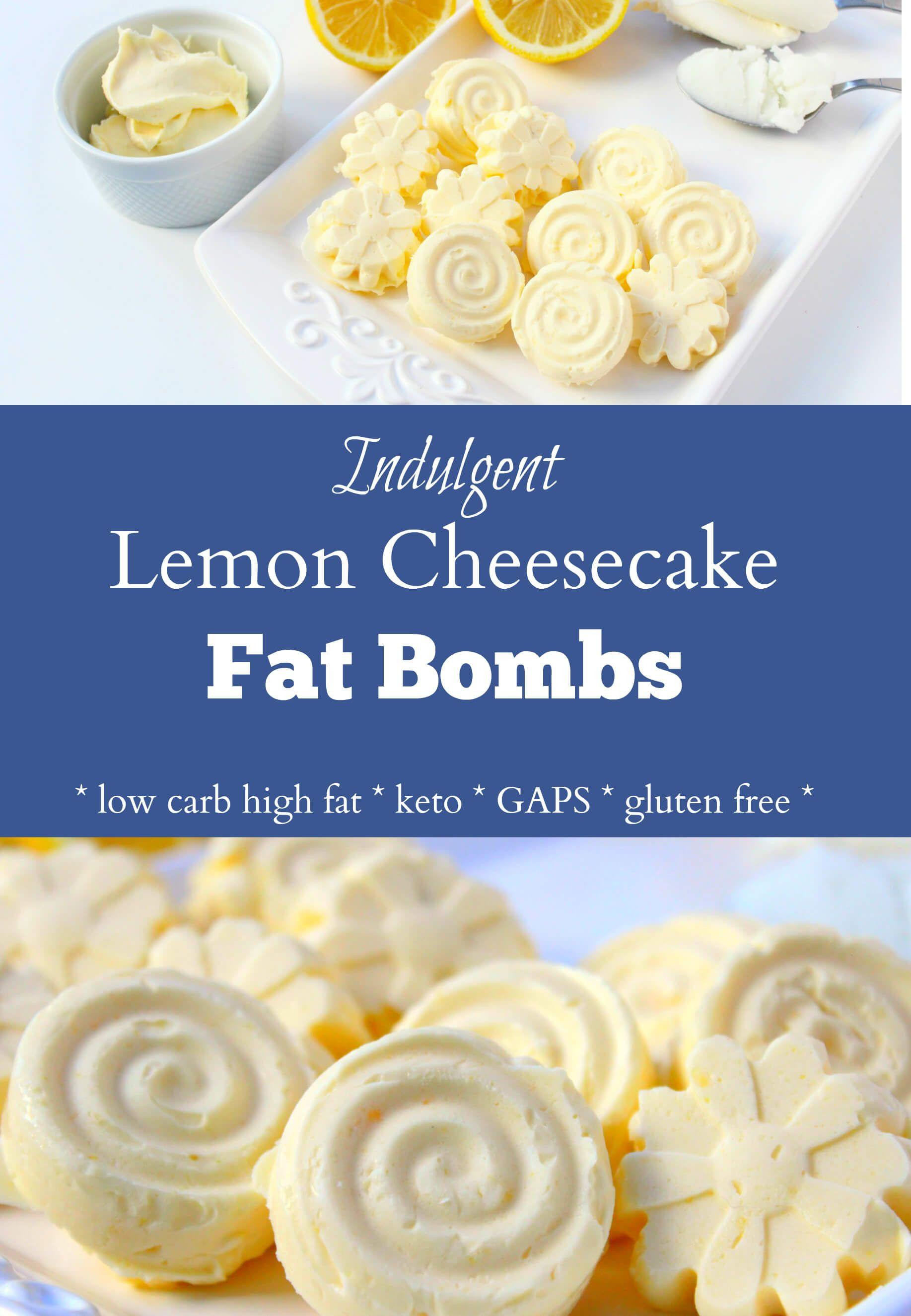 Decadent Lemon Cheesecake Fat Bombs Low Carb Keto Gaps
