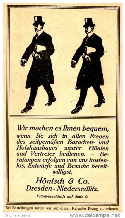 Holzhaus Dresden original werbung anzeige 1917 baracken holzhaus bau höntsch