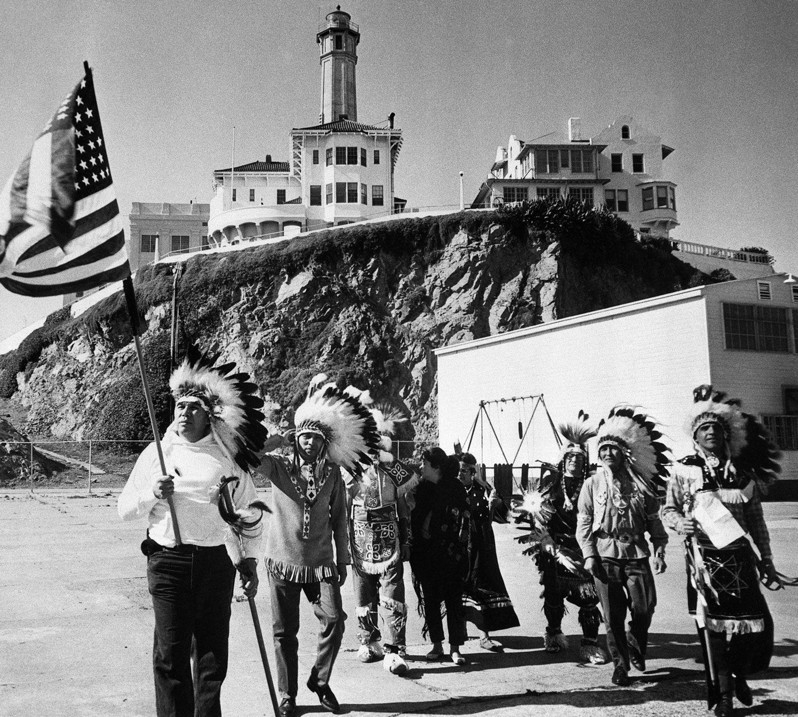Indios americanos em Alcatraz