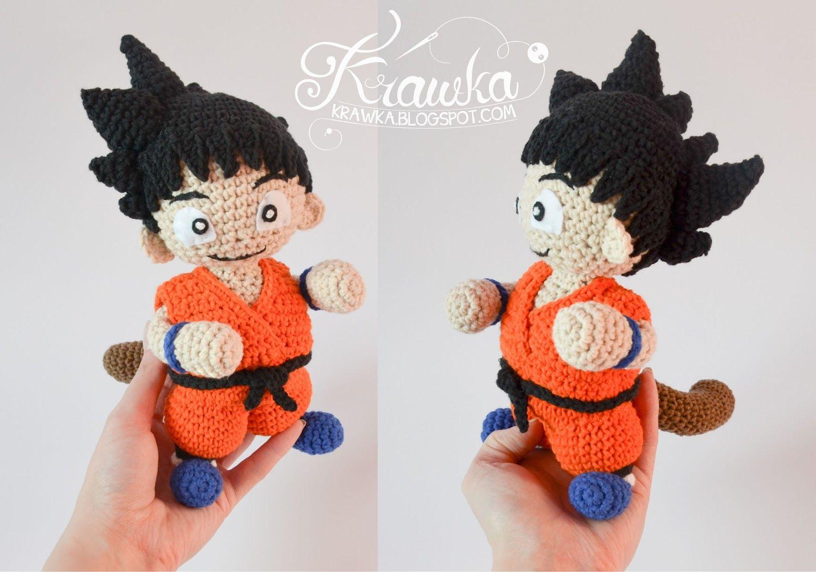 Krawka: Son Goku - Dragon Ball inspired crochet pattern by Krawka ...