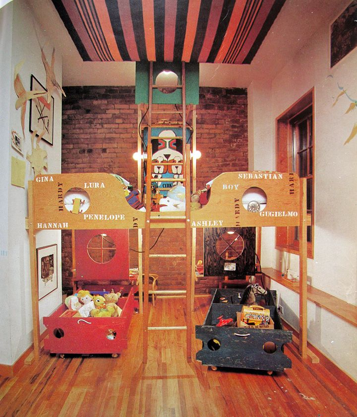 Vintage Kids Room: Kids' Rooms: Bunk Beds + Built