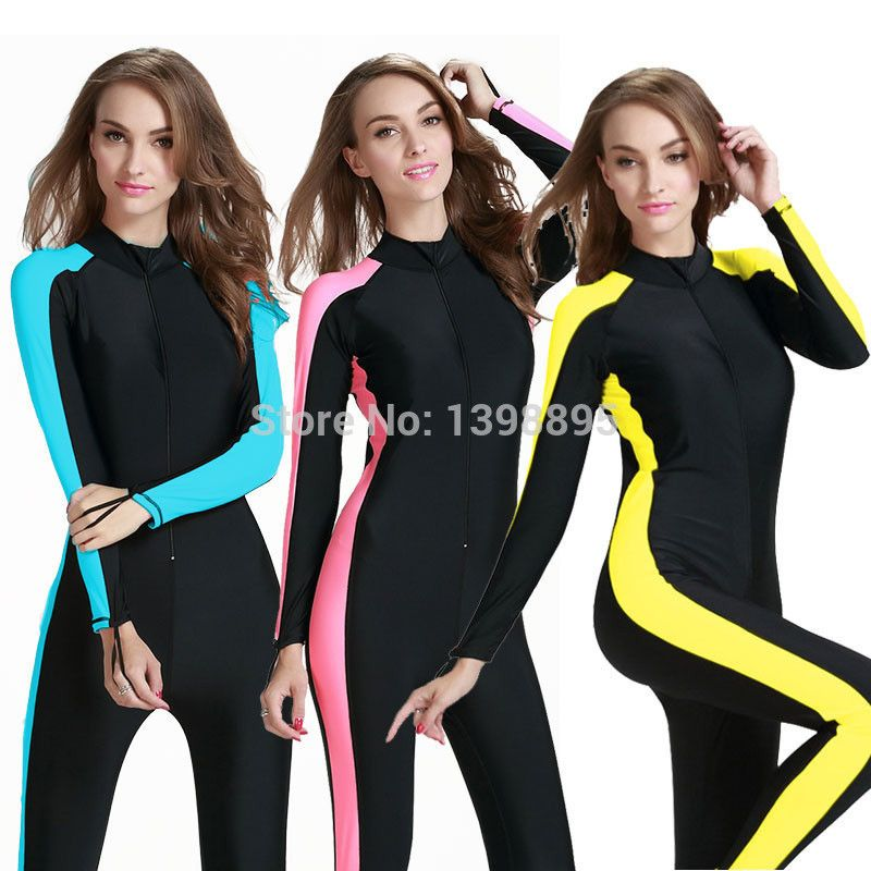 9495740ea2 Sbart UPF 50+ female wetsuit plus size surf suit full body swimwear surf  protect dry suit dive skin suit wet suit for swimming-in Wetsuits from  Sports ...