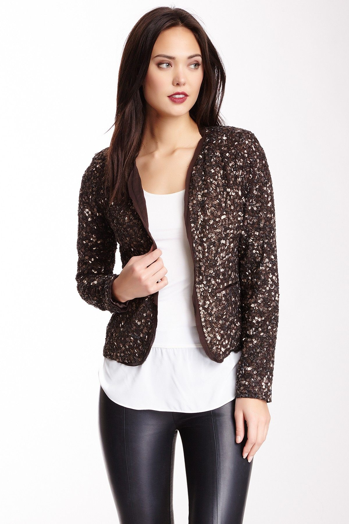 Nicole Miller Donatalla Jumbled Sequin Jacket
