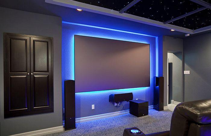 Backlit Projector Screen Id 233 Es Sympas Salle De Cin 233 Ma