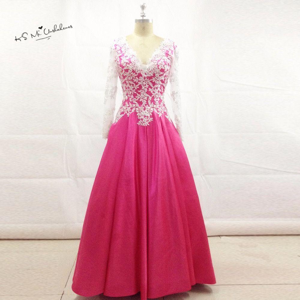 Click to Buy << Vestidos de 15 Anos Lace Fushcia Cheap Quinceanera ...