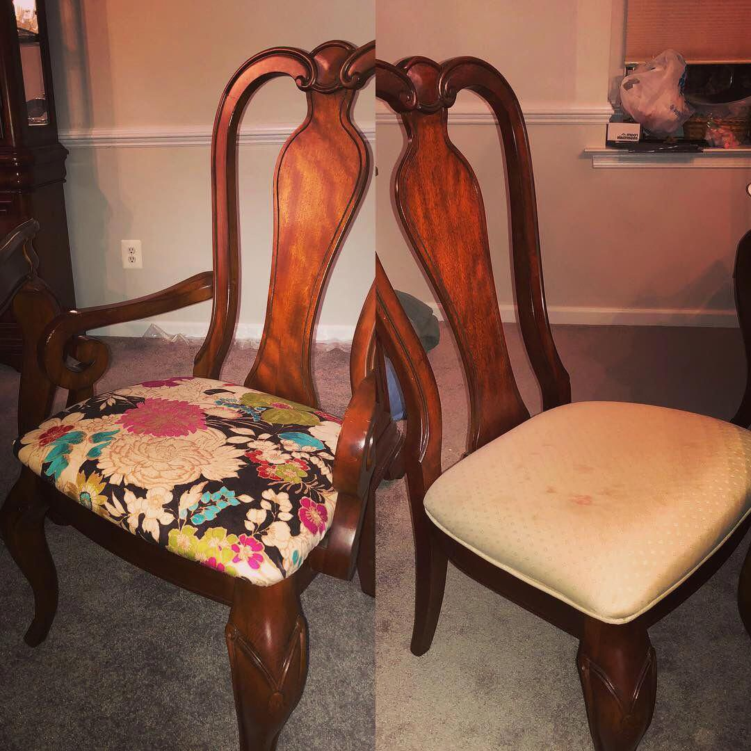 how to reupholster a dining room chair with arms
