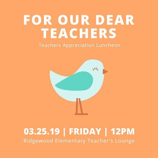 Bird Teacher Appreciation Luncheon Invitation Tech Tools - Lunch Invitation Templates