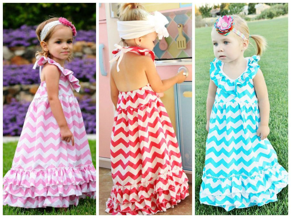 Toddler pink maxi little girls maxi dresses by adalynsboutique