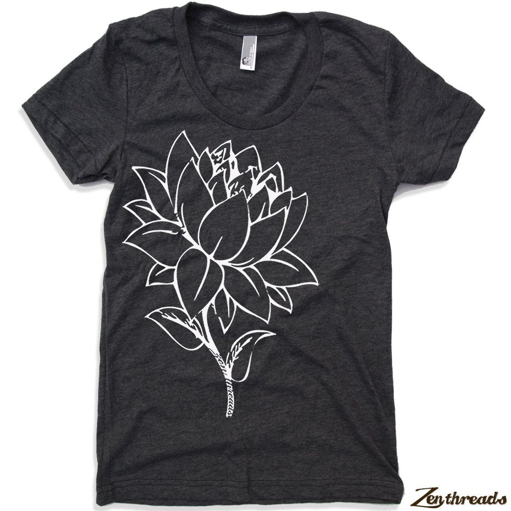 Womens lotus flower t shirt american apparel s m l xl 17 colors womens lotus flower t shirt american apparel s m l xl 17 colors available izmirmasajfo Images