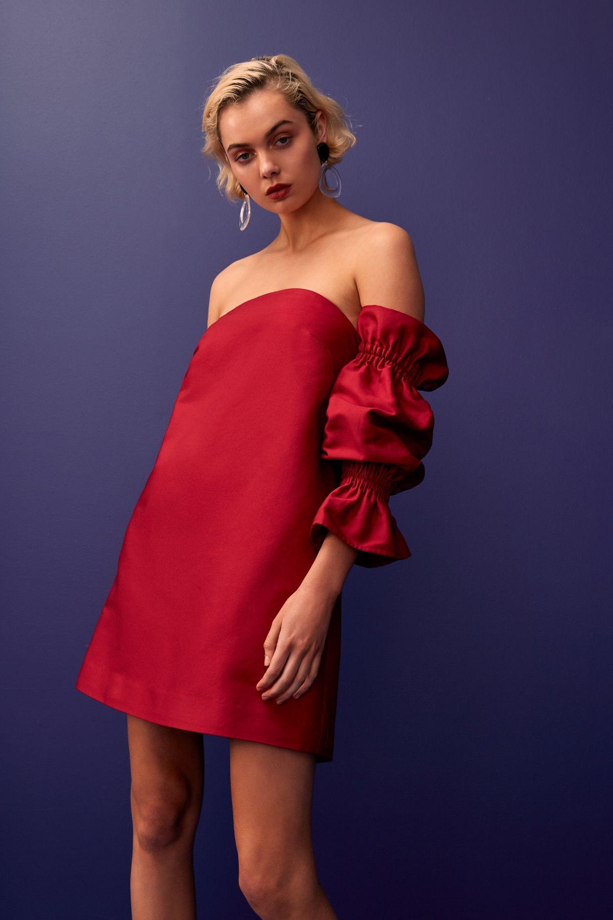 Indulgent Long Sleeve Dress Raspberry C Meo Collective Bnkr Long Sleeve Dress Dresses Dresses With Sleeves [ 1800 x 1200 Pixel ]
