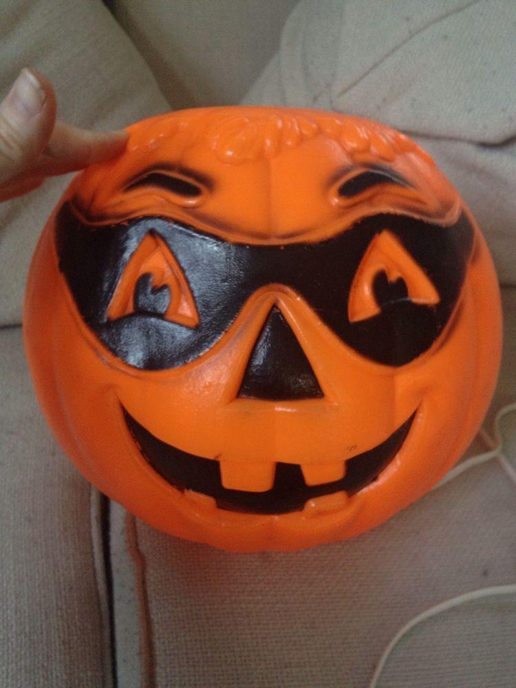Vintage Pumpkin Jack O Latern Blowmold Lighted Halloween Blow Mold