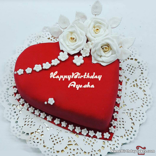 Happy Birthday Ayesha Video And Images S Heart Shaped Birthday