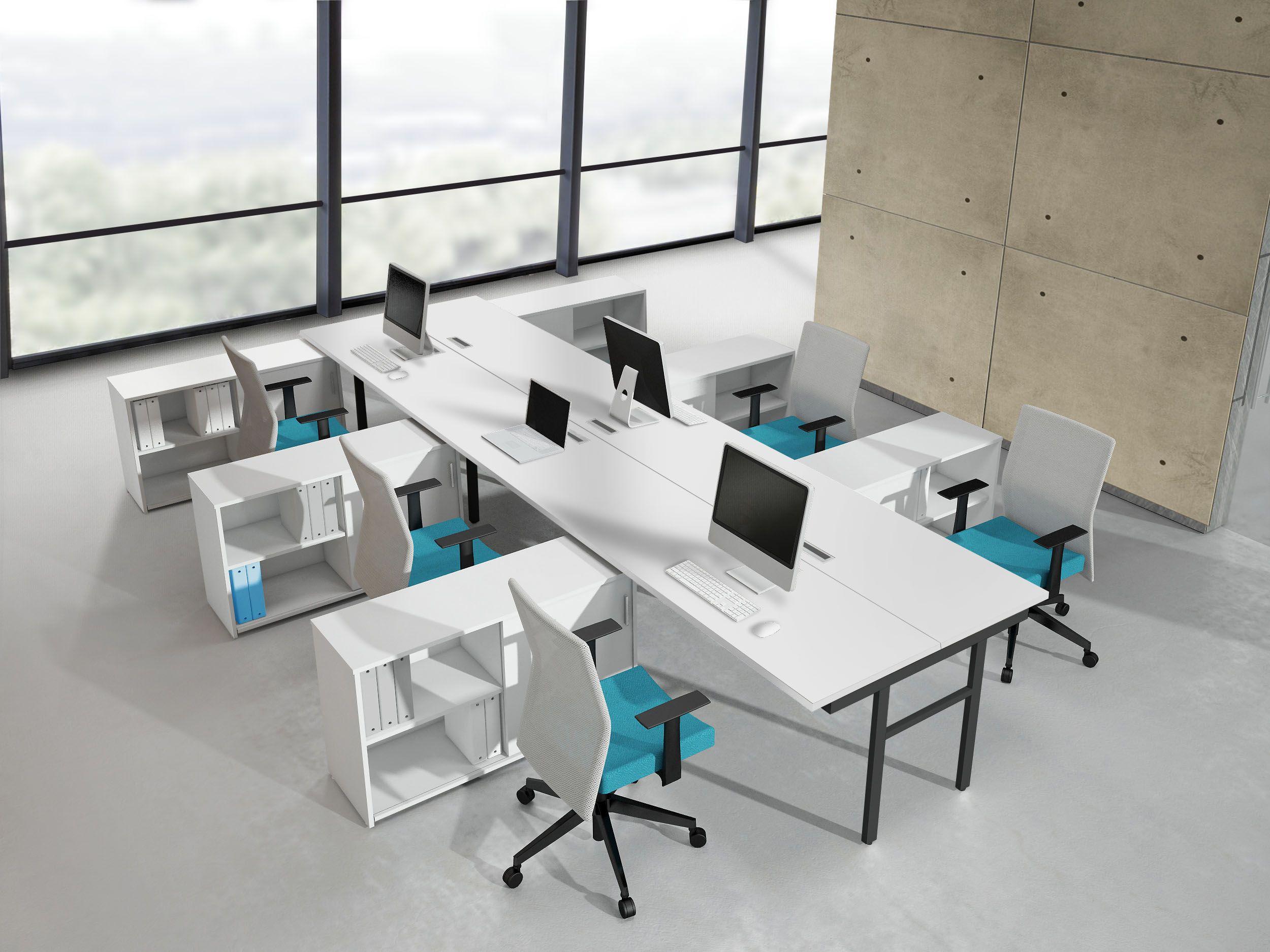 Oficina abierta oficina abierta comunicaci n din mica soluciones dise o interior - Oficina de obra ...