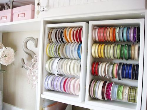 Craft Supplies Organization Creative DIY Ribbon Holders