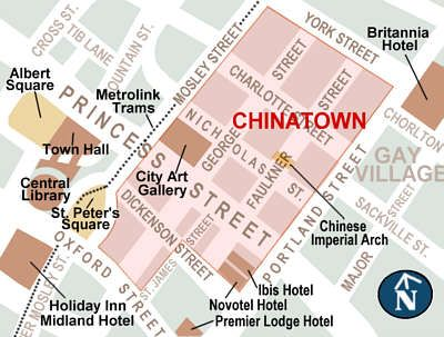 Manchester Chinatown City Map Living in the City Pinterest