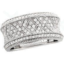 Wide Diamond Wedding Band Google Search Wanita