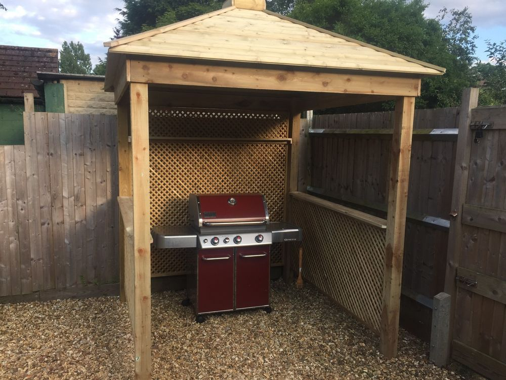 Gazebo Hard Top Canopy, Garden Awnings BBQ Barbecue Grill ...