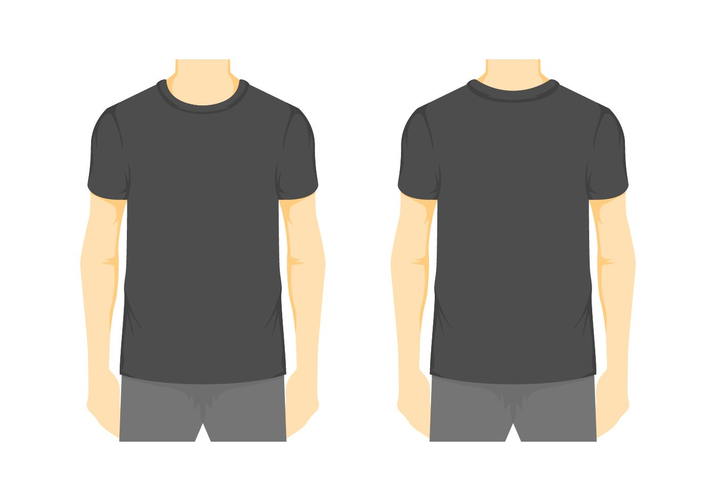 Vector Blank T Shirt Template 2 Download Free Vectors Pertaining To Blank Tee Shirt Template Blank T Shirts Shirt Template Shirts