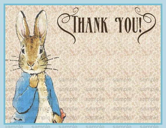 Vintage Peter Rabbit Beatrix Potter Baby Shower or  Vintage