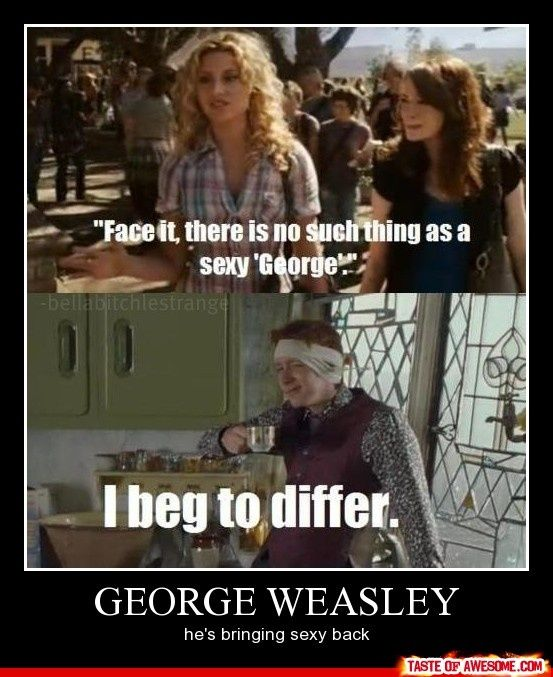 George Weasley is bringing sexy back... even minus an ear.