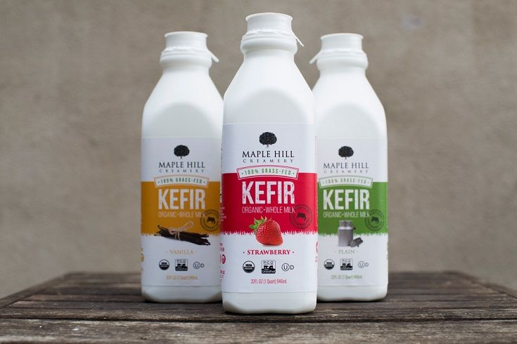 Ultra Creamy Probiotic Rich Maple Hill Creamery 100 Grass Fed Whole Milk Kefir Is Made Exclusively With Organic Milk From Certi Milk Kefir Kefir Organic Milk