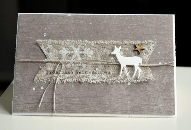 ganz schlicht und einfach bl tenstempel winter christmas cards pinterest. Black Bedroom Furniture Sets. Home Design Ideas