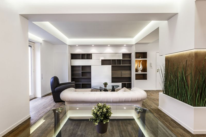 Lovely White Apartment Spiced Up with Natural Green Details | Apartments
