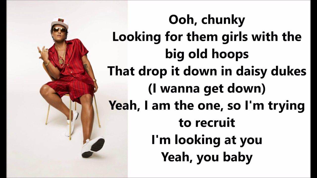 Bruno Mars Chunky Lyrics Letras Musique