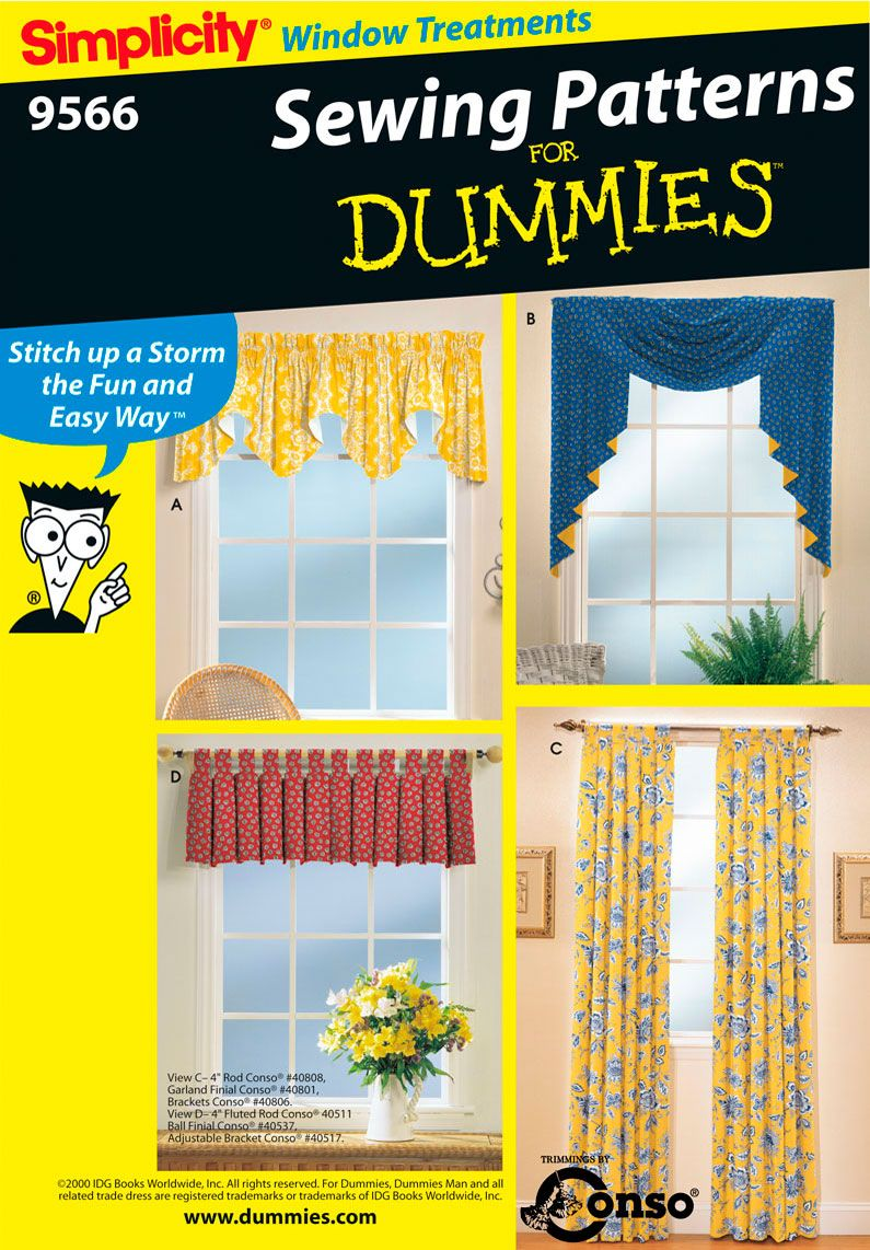 Classic Valances Panels Easy Sewing Pattern 9566 Simplicity