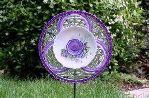 ... glass dishes | Garden Art Sun Catcher Glass Plate Flower Garden by