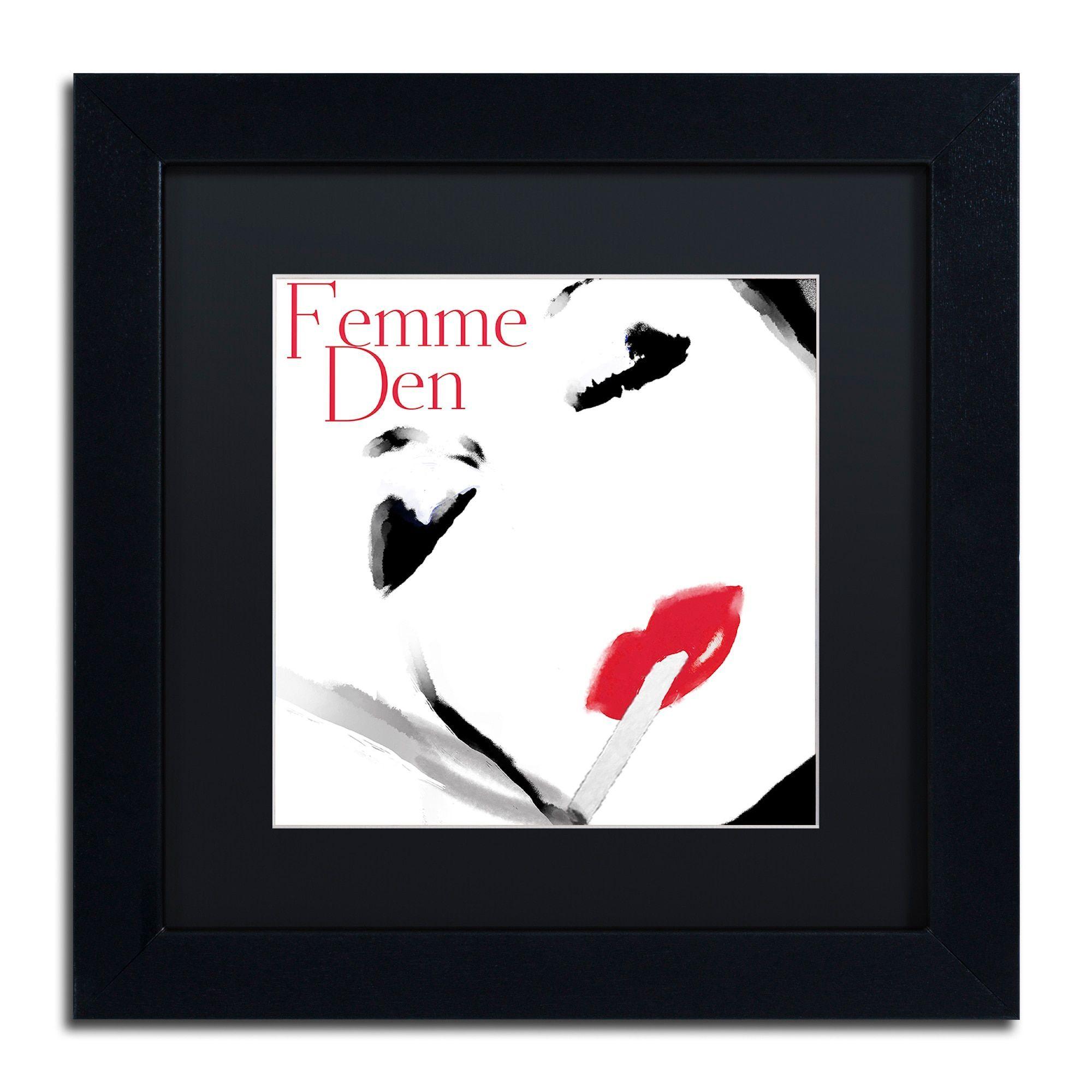 Color Bakery \'Femme Den I\' Matted Framed Art | Products | Pinterest