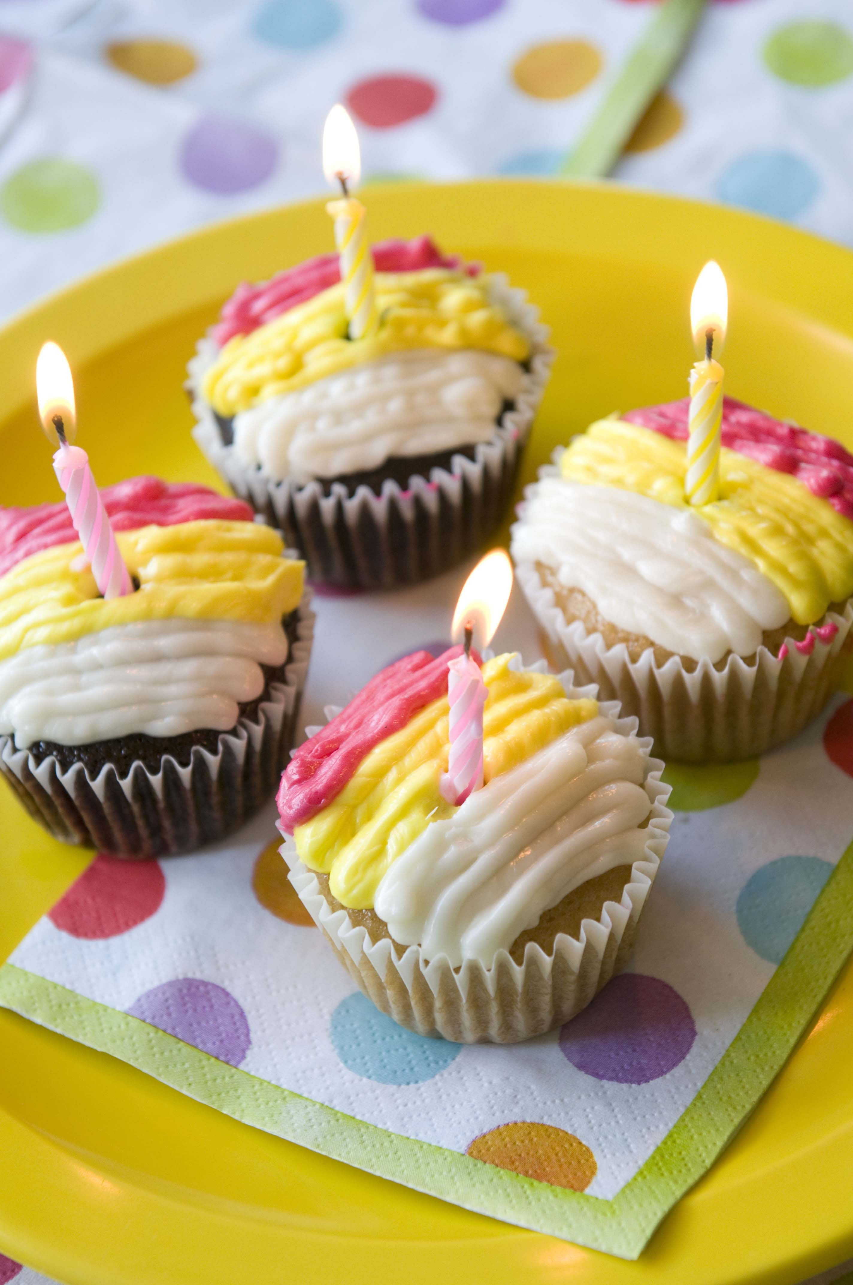 Lovely Kids Birthday Cupcakes Parties Happy 4th