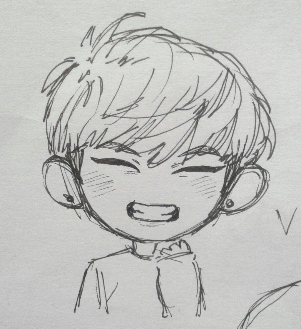 Work Of Art Chibi Drawings Kpop Drawings Easy Cartoon Drawings