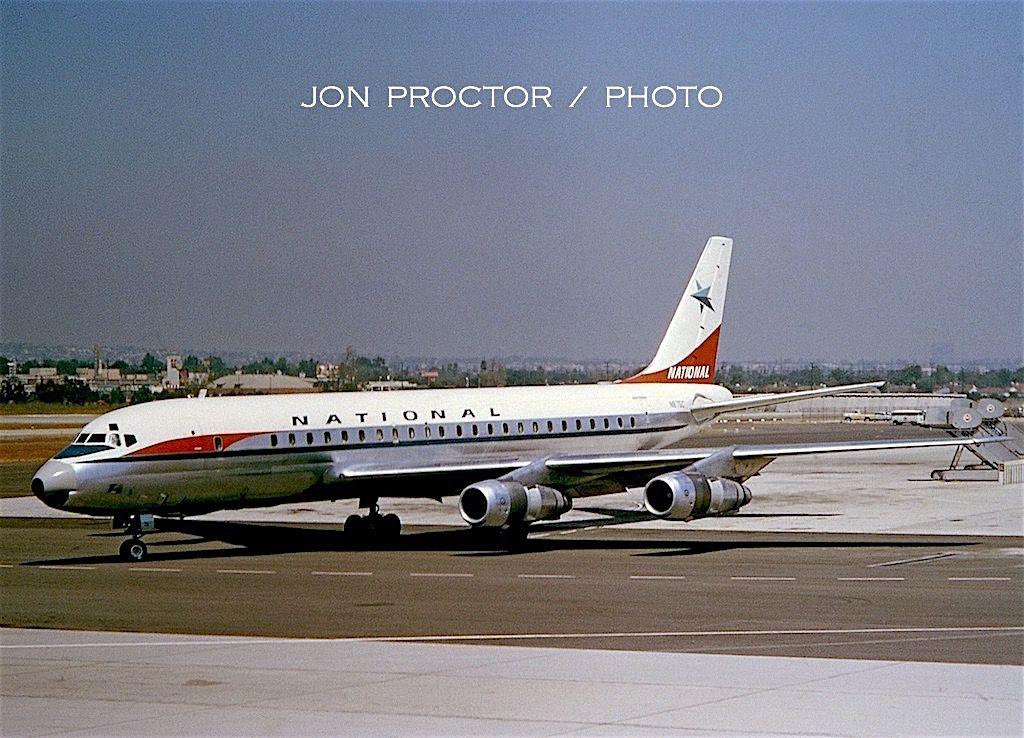 DC851 N875C LAX 828632 National airlines, Douglas dc 8