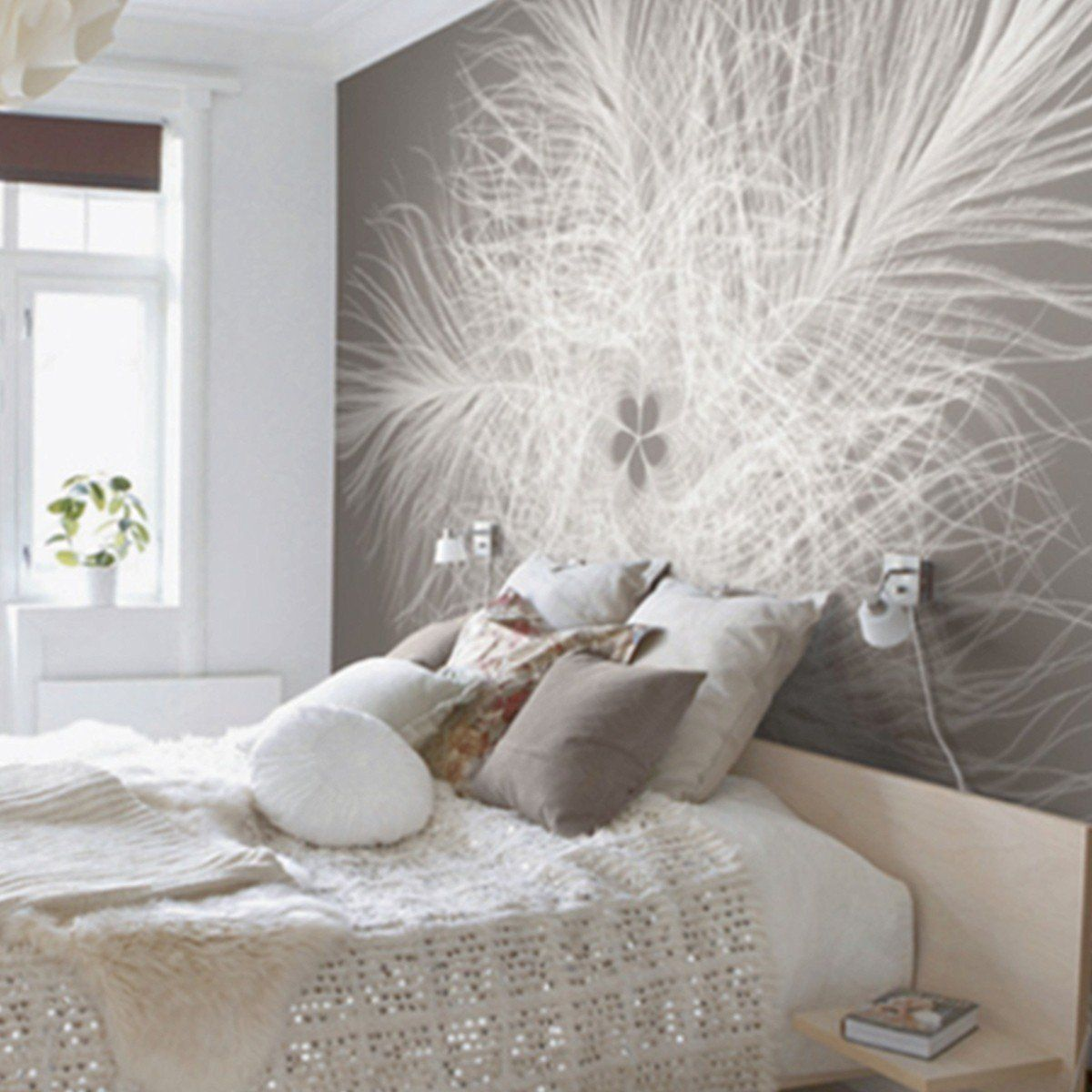 Federstern haus tapeten schlafzimmer und schlafzimmer tapete - Schlafzimmer hellbraun ...
