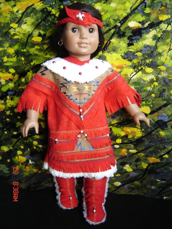 american girl HOLIDAY INDIAN dress by granmafran by frabotta, $30.95 #indianbeddoll