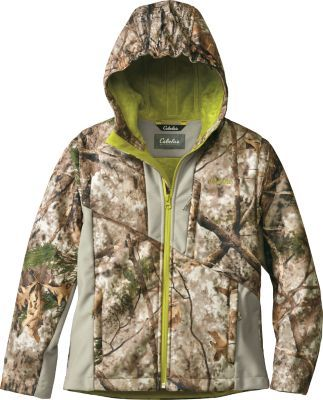 1b4694c38a5d1 From the turkey blind to the deer stand, Cabela's Youth Hunter Soft-Shell  Jacket provides warmth and protection for your kids. Constructed of durable  100% ...