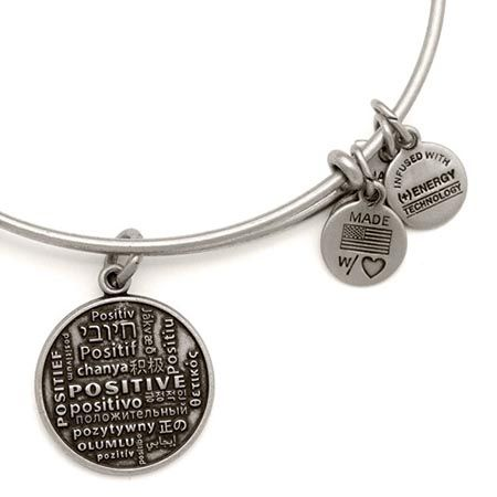 Alex And Ani Positive Is How I Live Foundation Expandable Wire Bangle Inspiration Hiness Enthusiasm
