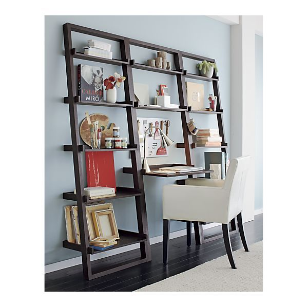 space saving desk shelf combo could work for my new small office rh pinterest com