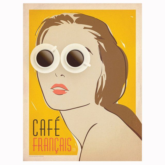 (3) Fancy - Cafe Français Gallery Print