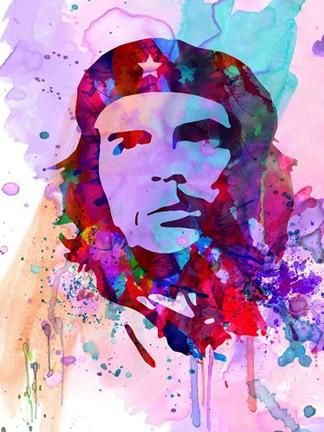 Che Guevara Watercolor 2 Poster Print by Anna Malkin People Art